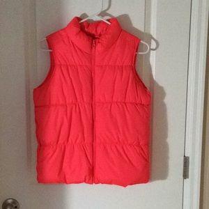 Pink zip up vest